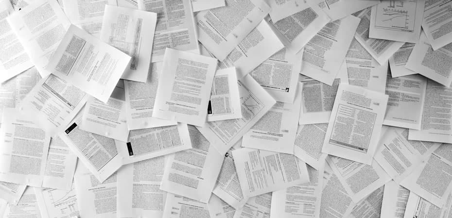 Due Diligence (image of many papers)