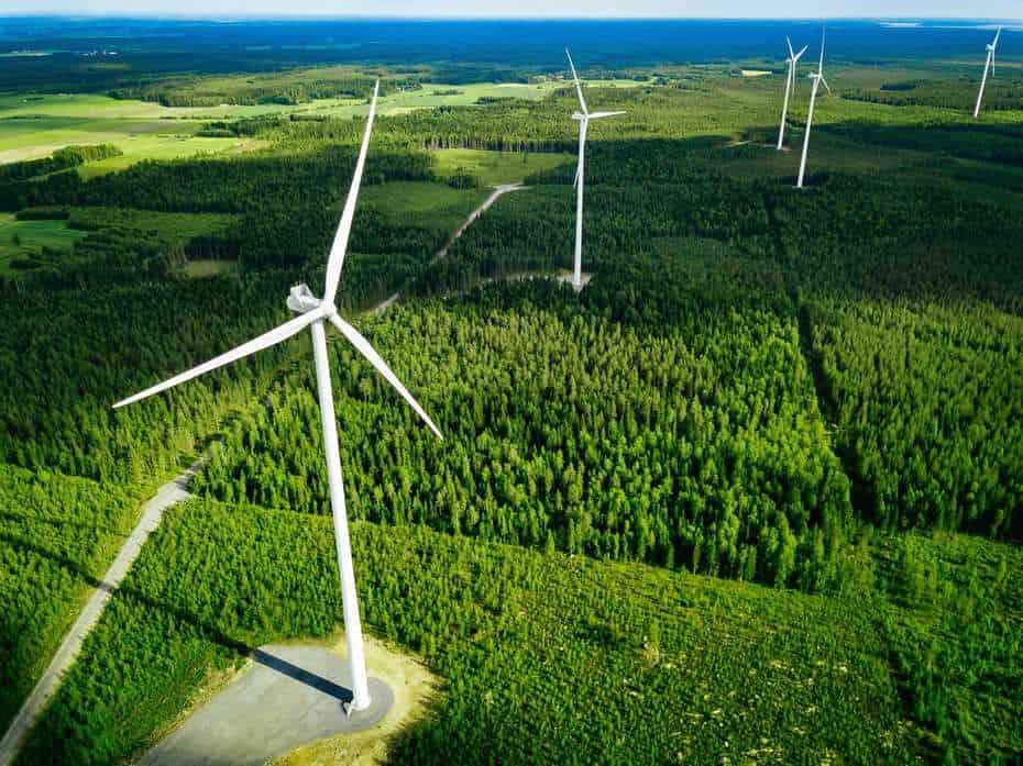 Wind (image of wind turbines)